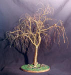 Sal Villano Wire Tree Sculpture - Winter Willow - ワイヤー 木 彫刻 , で Sal Villano